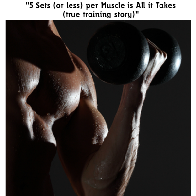 5 sets per muscle group