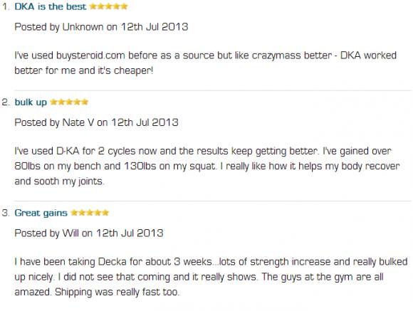 Deckadrolone Customer Reviews